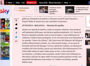 Gazza screenshot 27 set juve bologna var
