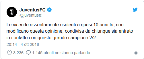 Juve tweet CR7