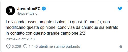 Juve tweet CR7